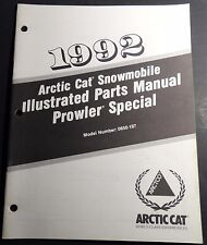 1992 ARCTIC CAT SNOWMOBILE PROWLER SPECIAL PARTS MANUAL P/N 0650-197  (127)