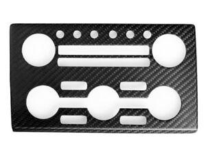 Dry Carbon Fiber CF AC Stereo Dash Panel Cover For Nissan Skyline GTR GT-R R35