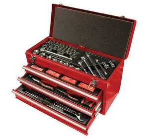 NEW SPEEDWAY 8836 SOLID STEEL 3 DRAWER 118 PIECE TOOL CHEST COMBO KIT 1204593