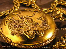 Antique Style Chinese Ming Dynasty Dragon Pocket Watch Golden Tone WTP1009