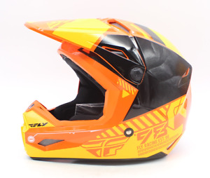 Fly Racing Kinetic Elite Orange/Yellow Helmet Size Large PN 73-8506L