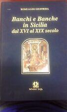 Giuffrida BANCHi e BANCHE in SICILIA dal XVI al XIX SECOLO Edizioni Grifo 1994