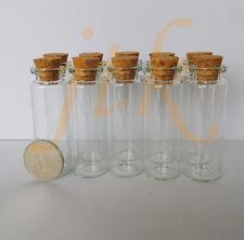 10 pcs 22*65mm 15ml small glass vials with cork tops bottles Little empty jars