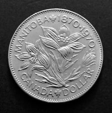 1970 - Canadian 1$ One Dollar Nickel Coin - Manitoba - Canada