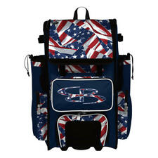 Boombah Superpack 2.0 Rolling Wheeled Baseball/Softball Bat Bag Pack Usa/Patriot