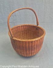 Antique Nantucket Lightship Basket by Ferdinand Sylvaro