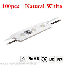 100pcs/lot AC110V High Voltage SMD 2835 IP67 Waterproof LED Module Nature White