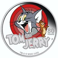 Tom and Jerry 1oz Silver Proof Coin Tuvalu 2020
