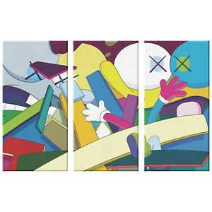 Kaws Canvas Art Print Where The End Starts