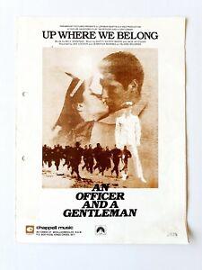 Up Where We Belong, An Officer and a Gentlemen, Sheet Music
