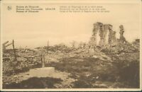 Postcard WW1 Ruins Of Dixmude unposted