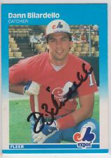 Autographed 1987 Fleer Dann Bilardello - Expos