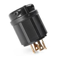 Generator Power Cable Locking Twist-Lock 4 Holes Plug NEMA L14-30P 30A 125/250V