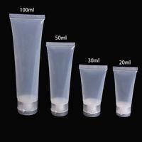5 Stk. Leer Plastik Portabel Tuben Quetsch Kosmetik Creme Lotion Reise Flasche