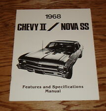 1968 Chevrolet Chevy II Nova SS Features & Specifications Manual 68