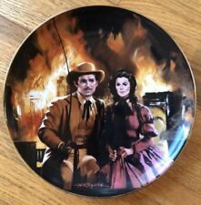 Gone With The Wind Golden Anniv #2 The Burning Of Atlanta Plate Coa, Ib 1988