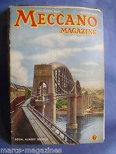 MECCANO AUGUST 1949 ROYAL ALBERT BRIDGE SALTASH BLACKPOOL TOWER BROOKLYN BATTERY