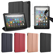 For Amazon Fire HD 8 2020 10th Gen / 8 Plus Tablet Case Cover / Screen Protector