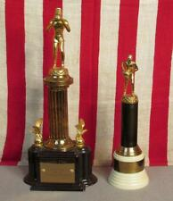 Vintage 1950s High School Basketball Trophy Pair MVP Ford City Tournament,PA.