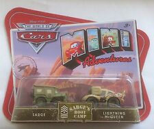 Disney Cars Mini Adventures Sarge's Boot Camp 2 Pack Sarge and Lightning McQueen