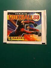 Panini UK football 89 Unopened Sticker Packet, 1989