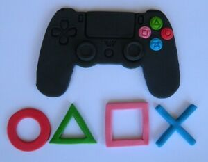 edible GAME LOGO CONTROLLER  SHAPES CAKE topper DECORATION PLAY CONSOLE