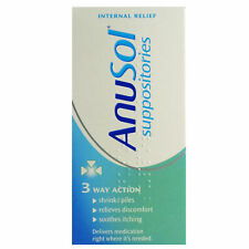 Anusol Suppositories Haemorrhoids Shrinks Piles 3 Way Action - 12 Suppositories