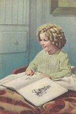 Shirley Temple Tinted Photo Rare Antique Postcard 1943s