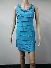 NEW - S.L. Fashions - Size 4P - Skyl Tiered Sheath Dress - Deep Sky Blue - $79
