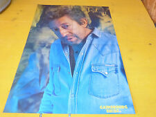 SERGE GAINSBOURG - Poster !!! Au verso : LLOYD COLE !!!