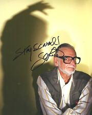 George A. Romero signed 8x10 photo. In Person Photo Proof - Night of Living Dead