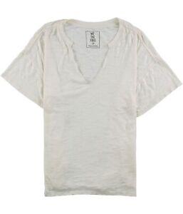 Free People Womens Oversized Burnout Basic T-Shirt, Off-White, Medium