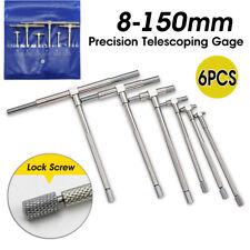 6PCS 8-150mm Telescopic Gauge Micrometer Measurement Bore Hole Engineers Kits UK