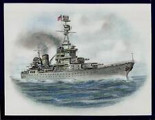 Original Art Work..USS PENSACOLA....  CA 24 Heavy Cruiser