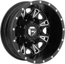 "17"" Fuel Throttle Dually D513 Black Wheels Rims 8X210 Chevy GMC 2011 and up"