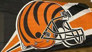Cincinnati Bengals HELMET DESIGN 3 x 5 FLAG ! FAST SHIPPING !