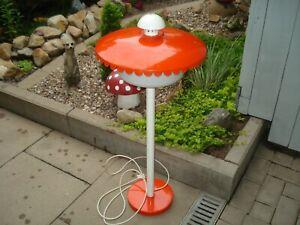 Vintage Leuchte MINIGOLF ultrarar Lampe 50/60er PILZ Gartenlampe Mategot-Ära
