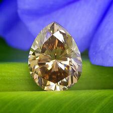 1.11 carat GIA Certified Natural Fancy Brown Diamond VS1 Pear Shape ct Chocolate