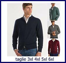 cardigan uomo con zip maglione lana maglia giacca taglie forti 3xl 4xl 5xl 6xl