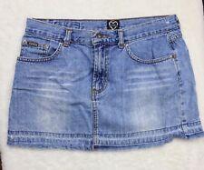 XOXO JEANS Women's Junior Girls Light Wash Blue Denim Skirt Sz 7/8