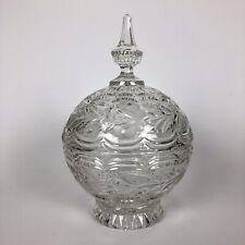 A Spherical Early Victorian Lead Crystal Sweetmeat Jar c1840