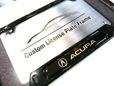 License Plate Frame for ACURA Matte Black Integra RSX CSX NSX TSX TL ILX MDX RDX