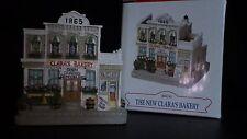 "Liberty Falls ""NEW CLARA'S BAKERY"" STORE WESTERN CHRISTMAS SNOW VILLAGE FIGURINE"