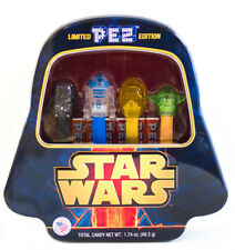 LIMITED EDITION STAR WARS PEZ COLLECTION IN DARTH VADER TIN 4 CHARACTERS R2-D2