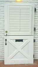 """Vtg Solid Wood Exterior Dutch Door - Custom Louvers - 6 Lites ~40x82x1¾"""""""