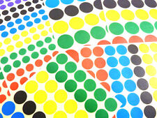 Coloured Circular Stickers, Circle, Round Colour Sticky Labels, 3 sizes - BL162