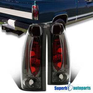 For 1988-1998 Sierra Yukon C10 Blazer Jimmy Suburban Tahoe Tail Lights Smoke
