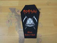 Midnight Coffin back patch Back Shape Patch Black Metal