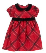gymboree nwt royal red baby girls holiday christmas dress red plaid 3 6 m