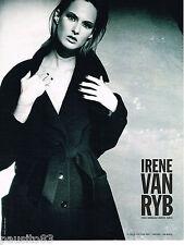PUBLICITE ADVERTISING 065  1995  IRENE VAN RYB   haute couture